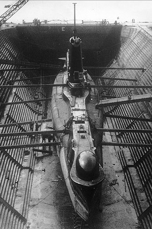 HMS Alliance in Dry dock