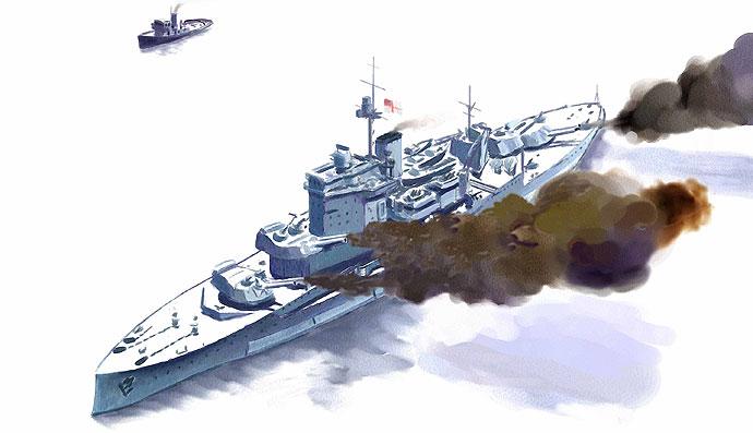 Warspite on DDay