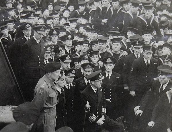 Montgomery on HMS Rodney
