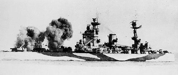 HMS Rodney Bombards