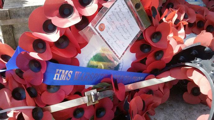 Warspite poppy wreath