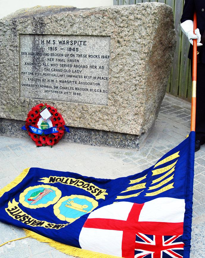 Warspite Marazion memorial
