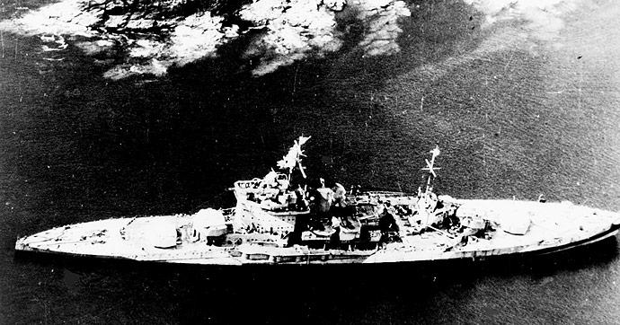 Warspite on the rocks